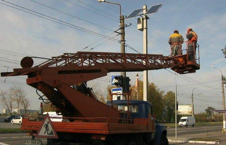 На Полтавщині вперше з'явився світлофор на сонячних батареях