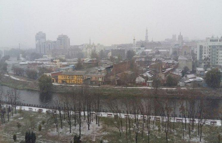 У Харкові випав сніг (ФОТО)