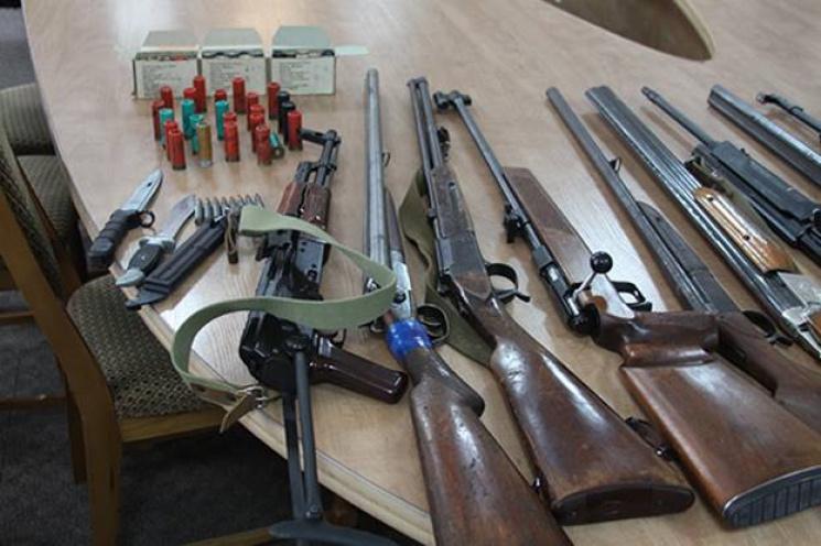 Ужовтні поліція проводитиме місячник добровільної здачі зброї