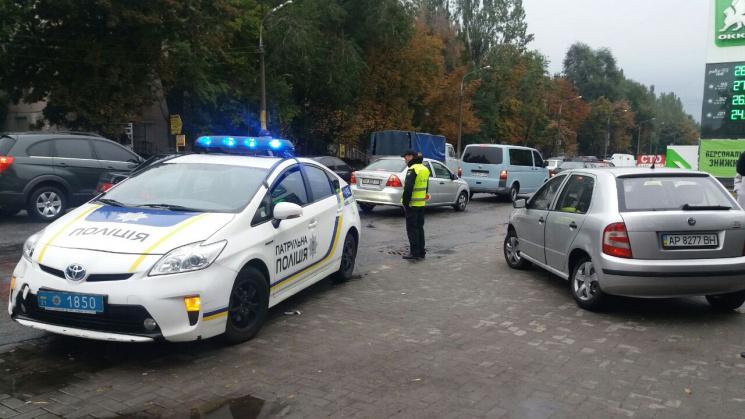 Запорізькі патрульні знову потрапили в ДТП (ФОТО, ВІДЕО)