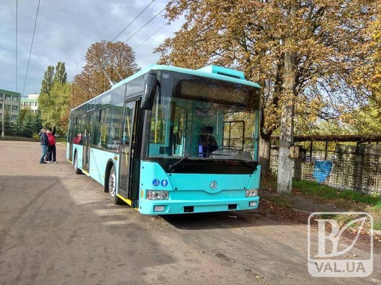Чернігів уже з новими тролейбусами