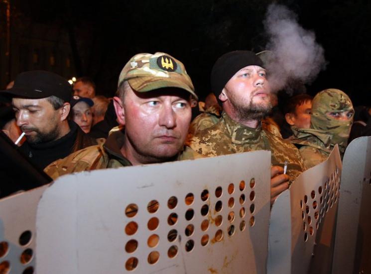 """Протести """"Міхо"""" під Радою (ХРОНІКА)"""