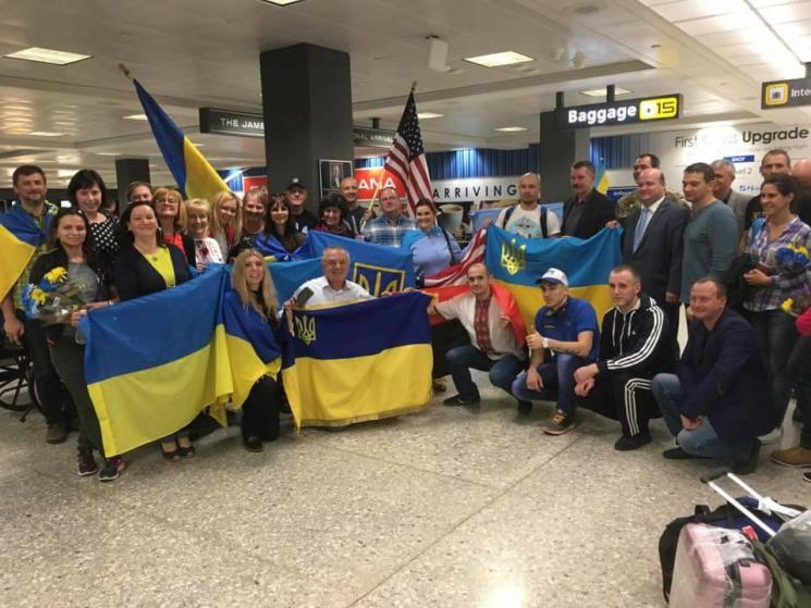 Українські ветерани АТО взяли участь уМарафоні морської піхоти США