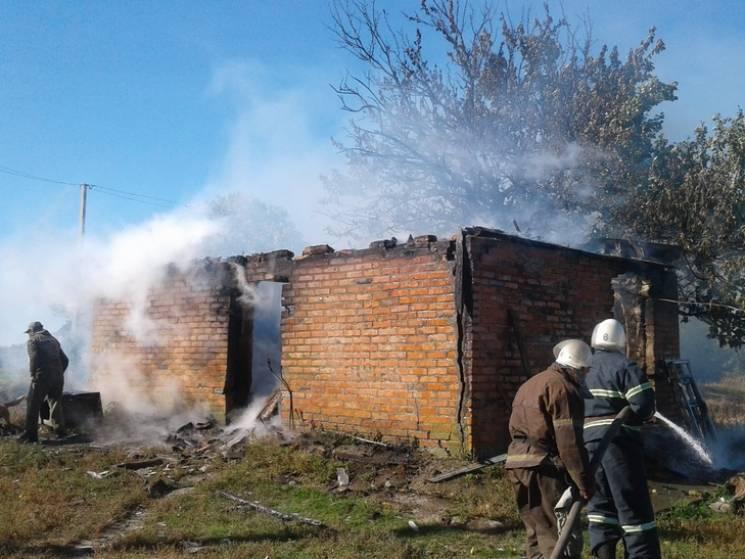 На Полтавщине бойцы ГСЧС потушили пожар…