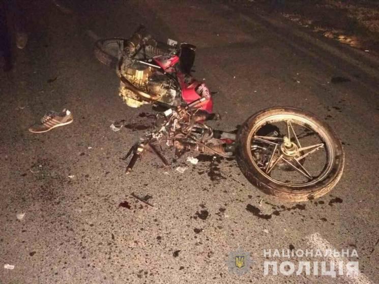 На Тячівщині лоб у лоб зіткнулися мотоци…