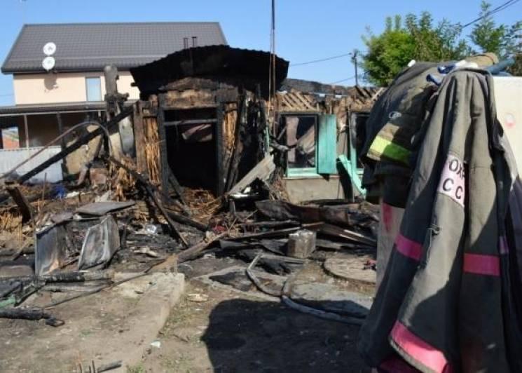 У Дінському районі під час пожежі загинув чоловік