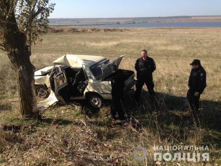 У Саратському районі сталася смертельна ДТП: Легковик влетів у дерево (ФОТО)