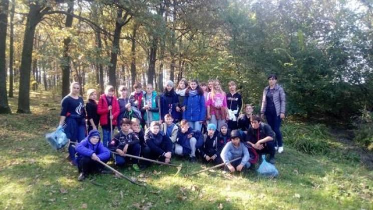 У селі на Вінниччині школярі провели екологічну акцію (ФОТО)