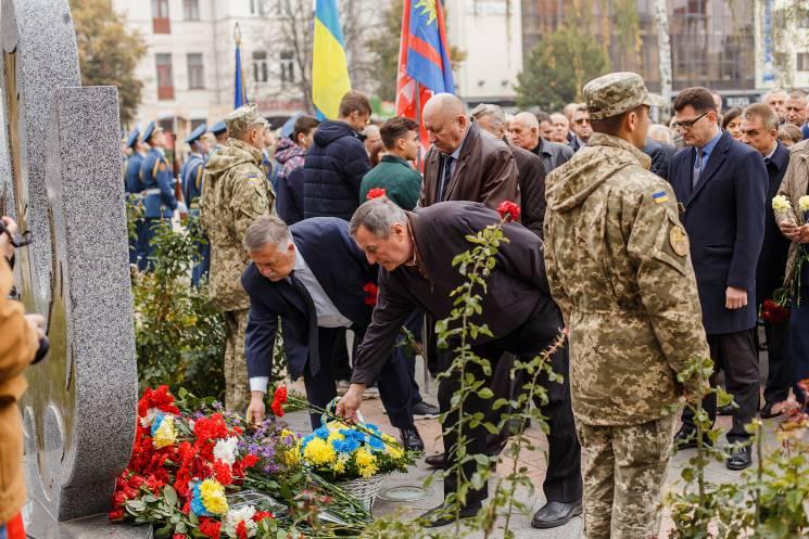 Вінничани вшанували пам'ять полеглих захисників України (ФОТО)