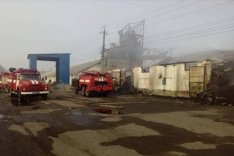 На Харківщині палають зерносховища з насінням соняшника та пшеницею (ФОТО)