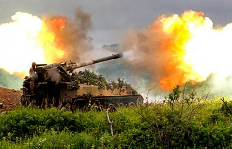 Опубліковані супутникові знімки артилерії РФ на території України