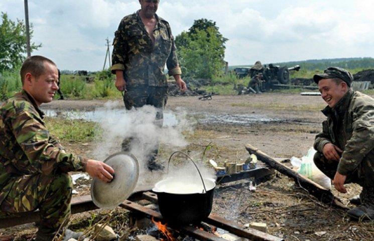 Українські солдати харчуються на 38 гривень щодня