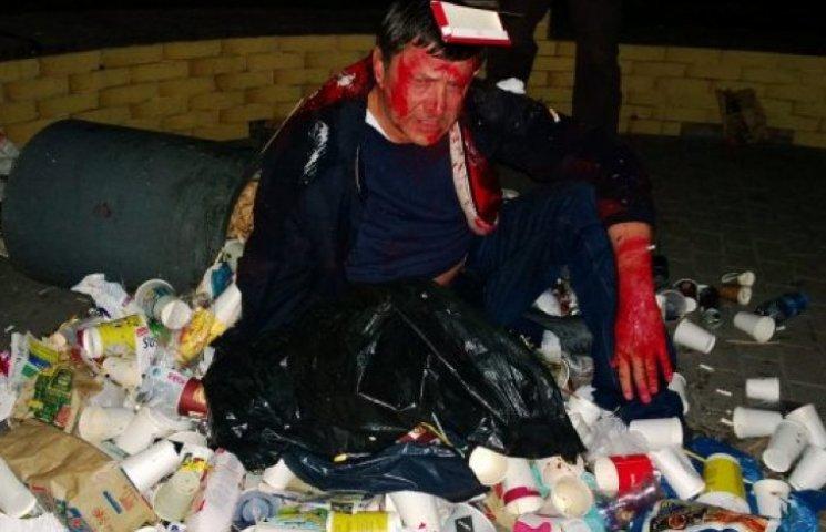 Пилипишина «втопили» в смітті і залили «кров