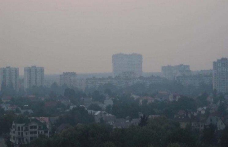 Хмельницький в диму, та небезпеки здоров