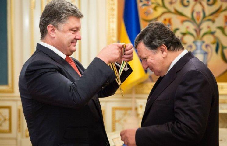 Порошенко наградил Баррозу орденом Свободы (ФОТО)