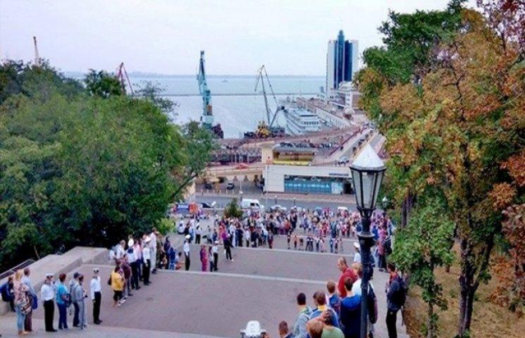 Сьогодні в Одесі відбувся забіг по Потьомкінських сходах