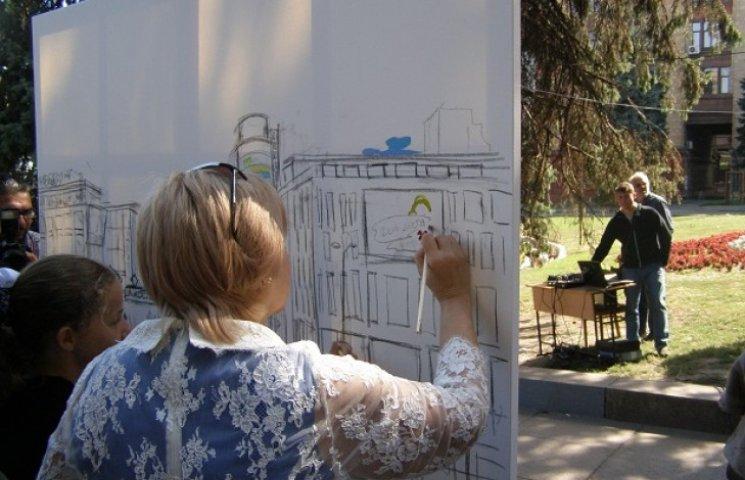 Мерка Дніпропетровська під час свята малювала хмари над містом