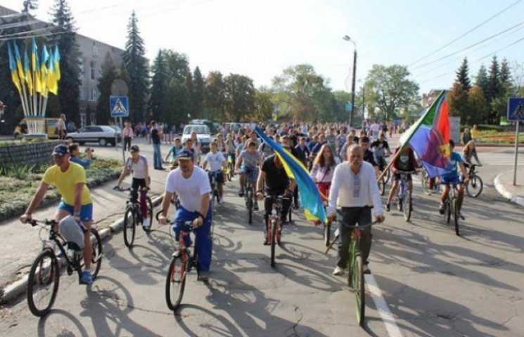 Родинним велопробігом відзначили славутчани день міста