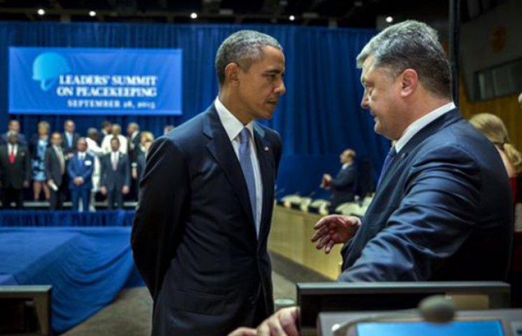 Порошенко розповів, про що говорив з Обамою в кулуарах Генасамблеї ООН