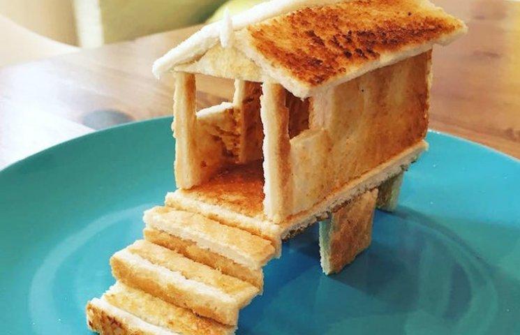Неймовірні скульптури з тостів, які батько створює для хворої доньки