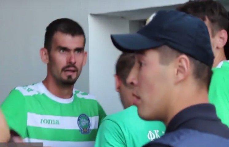 Херсонські футболісти заявляють про постраждалого і винять хмельницьких копів