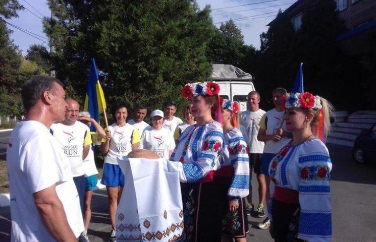 Славута прийняла міжнародну естафету і передала Шепетівці