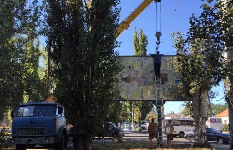 Білборди миколаївської фірми, яку лобіював депутат, демонтують