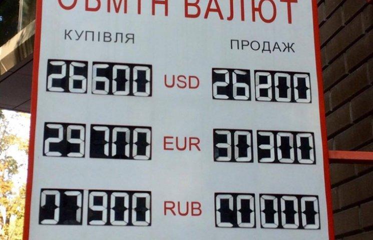 """На Хмельниччині євро впевнено """"переступило"""" 30-гривнений рубіж"""