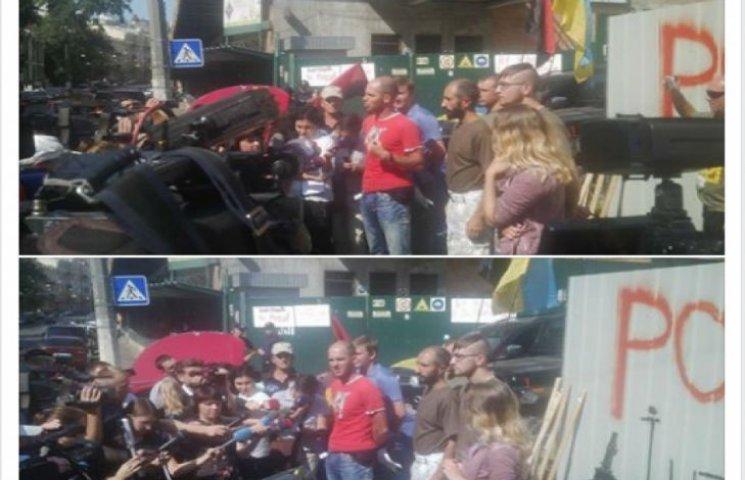"""Полтавських АТОвців затримали під час протестів під """"Інтером"""""""