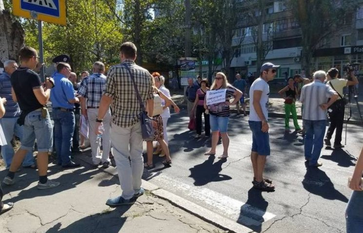 У Миколаєві торгаші перекрили проспект Центральний