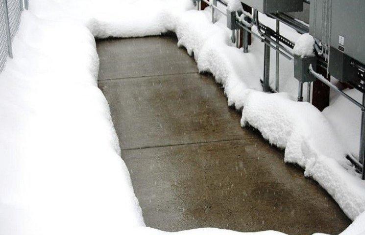 Вчені створили бетон, на якому тане сніг
