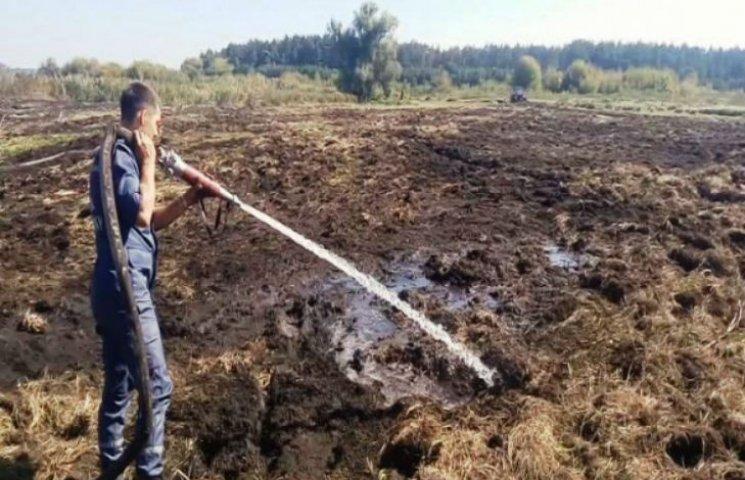 На Черкащині два дні горіли торф