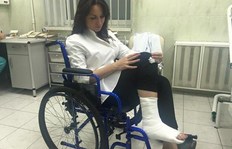 """""""Спешила на Кабмин"""": Самый грациозный депутат Рады получила серьезную травму"""