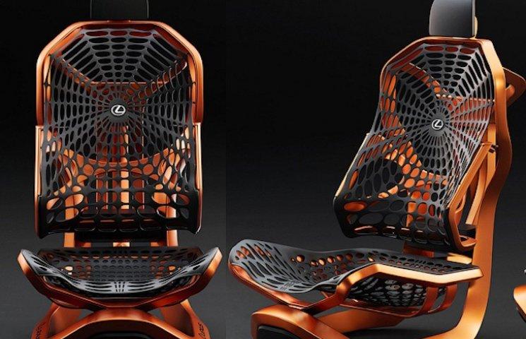 Lexus зробив крісла для автівок з павукового шовку