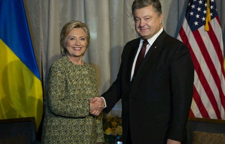 Порошенко у Нью-Йорку зустрівся з Гілларі Клінтон