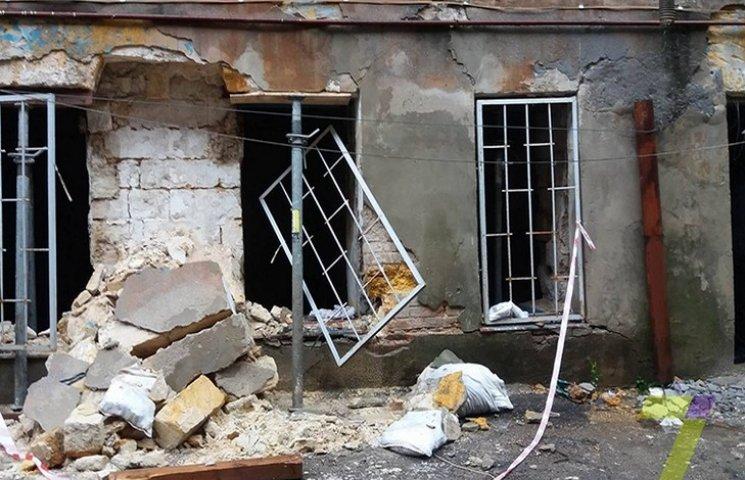 У центрі Одеси обвалилася стіна житлового будинку