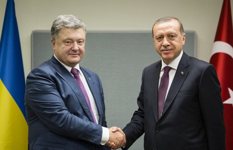 Ердоган запевнив Порошенка, що дружба з Росією не змінить його позиції щодо Криму