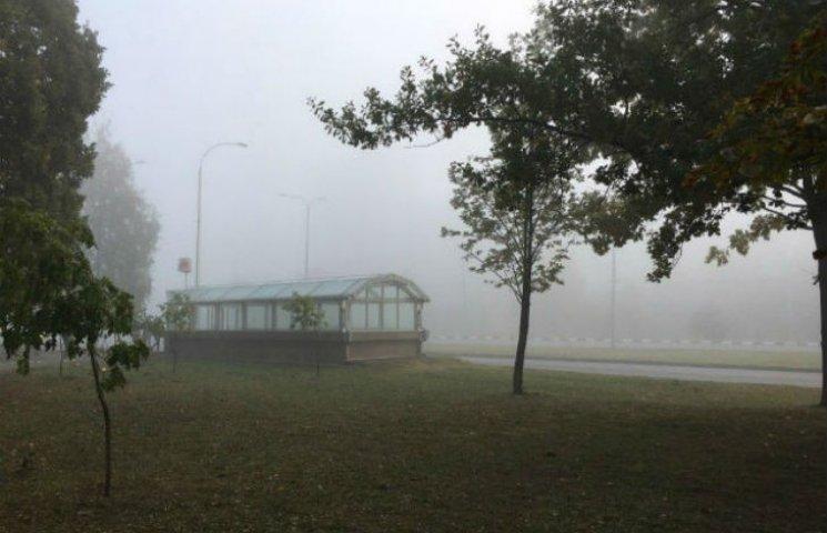 Незвичайний туман не вплинув на роботу аеропорту Харкова