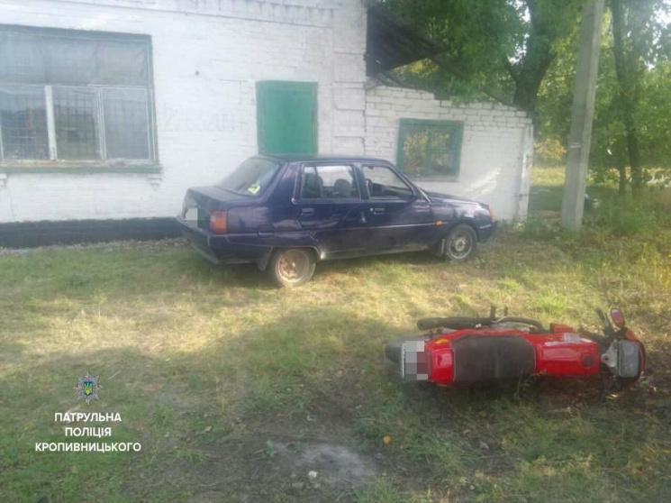 У Кропивницькому п'яний крадій мотоцикла влаштував перегони та ДТП