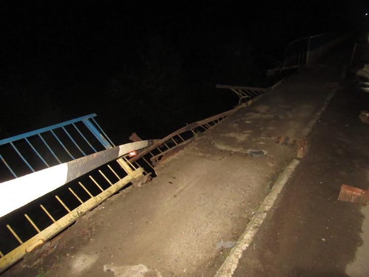 На Прикарпатті автомобіль злетів з моста у ріку: Водій загинув