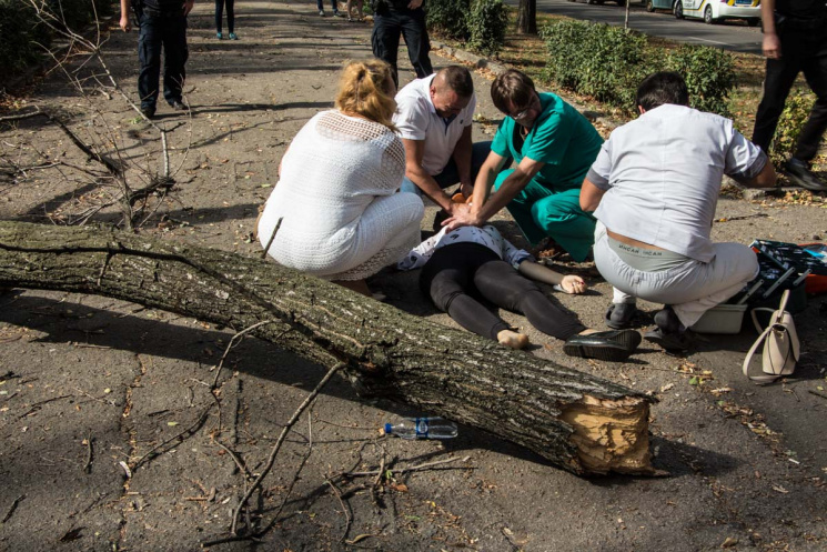 Пробита легеня і зламаний хребет: уДніпрі дерево вбило вагітну дівчину