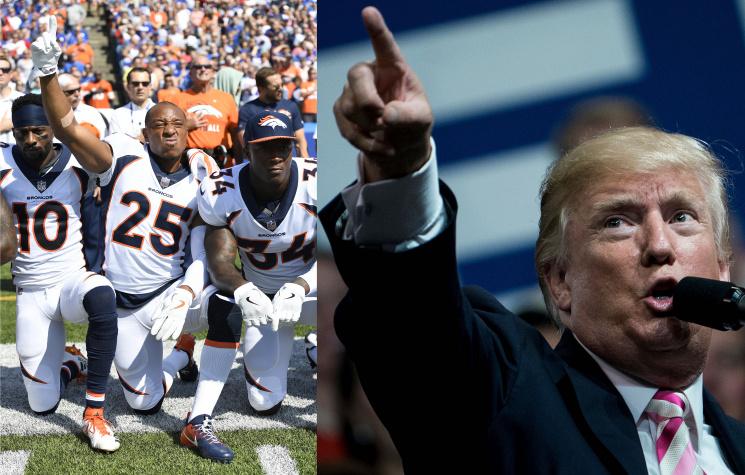 Трамп: игроки НФЛ, невстающие вовремя гимна США, должны быть уволены
