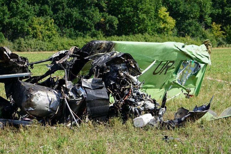 На Харьковщине полиция обнародовала возможные причины, из-за которых разбился самолет (ФОТО)