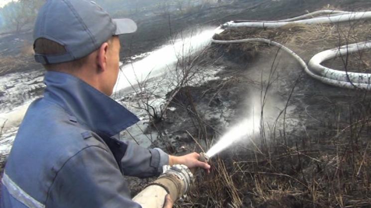 Масштабна пожежа наПолтавщині. Горять торфовища на70 га