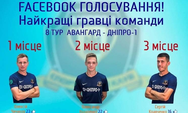 """Фанати """"Дніпра-1"""" визначили кращого гравця тижня (ФОТО)"""