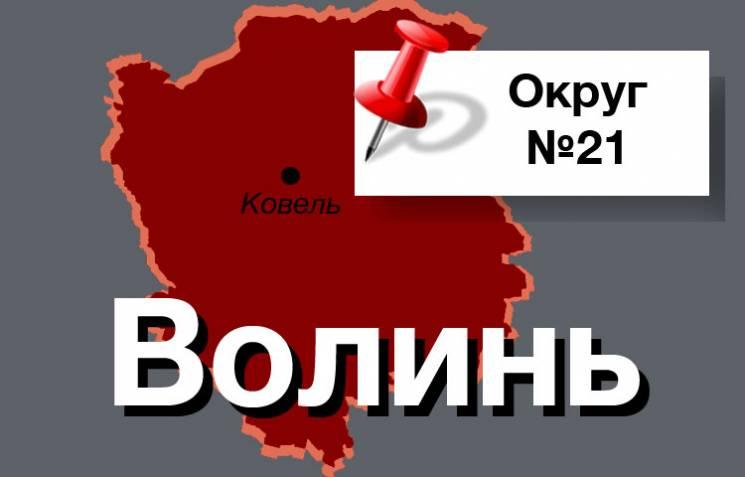Округ №21: Ще один округ Волині не здивує своїм вибором