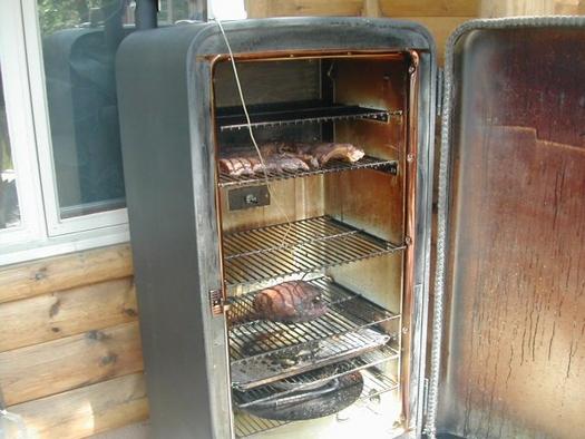 Коптильня горячего копчения из холодильника своими руками фото 49
